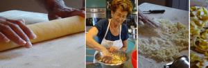 Mum Beppy making pasta at villa Dei Mori La Massa  cooking class